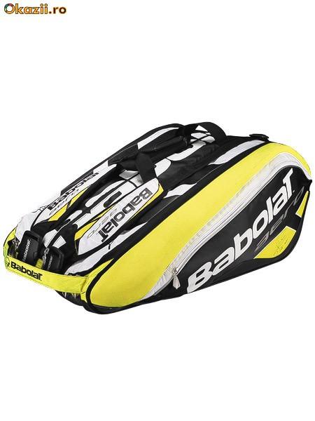 Babolat Aero Line Black/Yellow 12 Pack Bag.